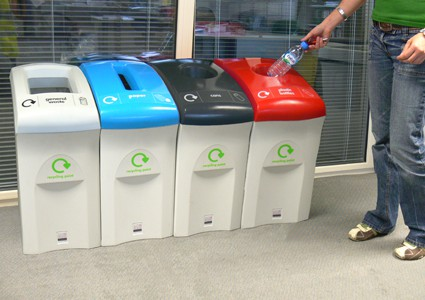 Recycle more in the office