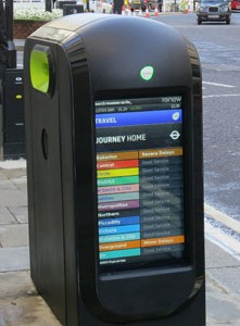 Hi Tech Recycle Bins in City of London